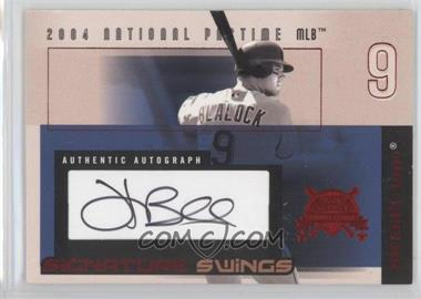 2004 Fleer National Pastime Signature Swings Red #SSA-HB - Hank Blalock /109