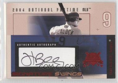 2004 Fleer National Pastime Signature Swings Red #SSA-HB - Hank Blalock /109