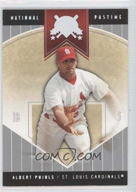 2004 Fleer National Pastime White #42 - Albert Pujols /50