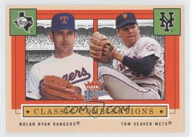 2004 Fleer Platinum Classic Combinations #10 CC - Nolan Ryan, Tom Seaver