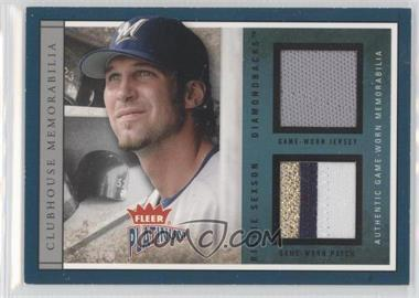2004 Fleer Platinum Clubhouse Memorabilia Dual #CLUB-RS - Richie Sexson /50
