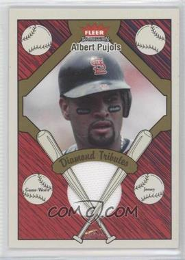 2004 Fleer Tradition Diamond Tributes Jerseys #DT-AP - Albert Pujols
