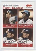 Javy Lopez, Gary Sheffield, Russ Ortiz