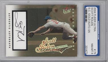 2004 Fleer Ultra Season Crowns Gold Autographs [Autographed] #79 - Scott Rolen /25 [ENCASED]