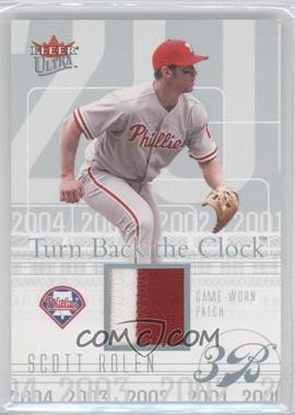 2004 Fleer Ultra Turn Back The Clock Jerseys Platinum Patch #TBC-SR - Scott Rolen /29