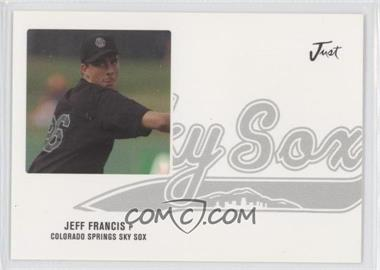 2004 Just Minors Just Autographs Preview #Preview 1 - Jeff Francis