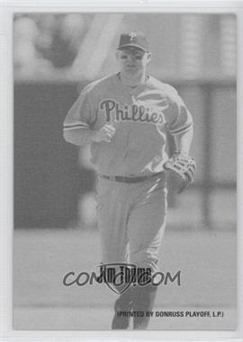 2004 Leaf - Exhibits - 1947-66 PDPSCR Printed by Donruss Playoff Print Name #22 - Jim Thome /66