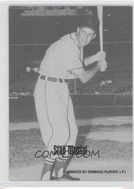 2004 Leaf - Exhibits - 1947-66 PDPSCR Printed by Donruss Playoff Print Name #45 - Stan Musial /66