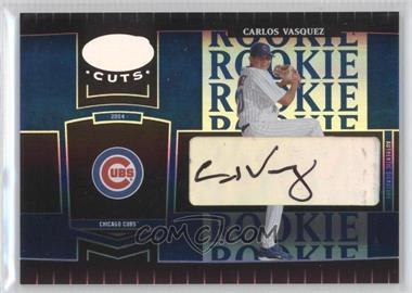 2004 Leaf Certified Cuts - [Base] - Marble Blue Signatures [Autographed] #256 - Carlos Vasquez /75
