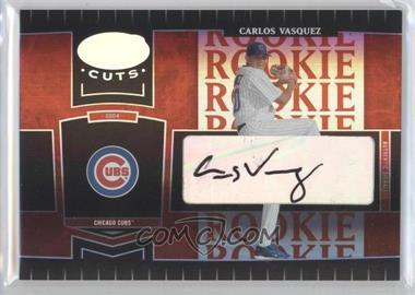 2004 Leaf Certified Cuts Marble Red Signatures [Autographed] #256 - Carlos Vasquez /100