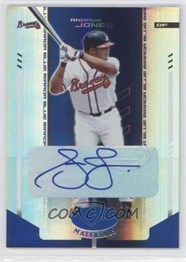 2004 Leaf Certified Materials - [Base] - Blue Mirror Autograph [Autographed] #11 - Andruw Jones /25