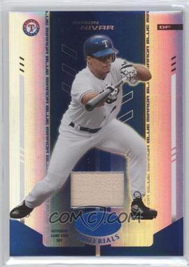 2004 Leaf Certified Materials - [Base] - Blue Mirror Bat #195 - Ramon Nivar /50