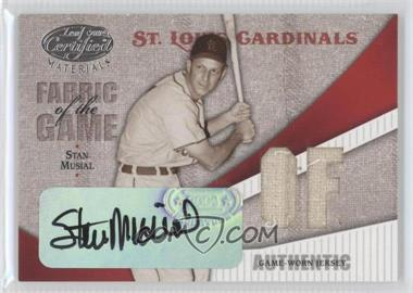2004 Leaf Certified Materials - Fabric of the Game - Position Autograph [Autographed] #FG-112 - Stan Musial /6