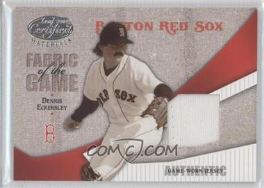 2004 Leaf Certified Materials - Fabric of the Game #FG-146 - Dennis Eckersley /100