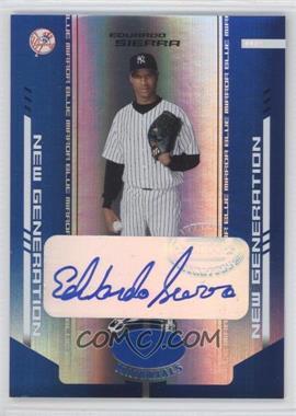 2004 Leaf Certified Materials Blue Mirror Autograph [Autographed] #251 - Eduardo Sierra /100
