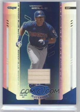 2004 Leaf Certified Materials Blue Mirror Bat #186 - Vernon Wells /50