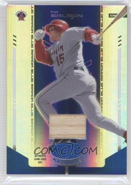 2004 Leaf Certified Materials Blue Mirror Bat #192 - Tim Salmon