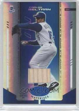2004 Leaf Certified Materials Blue Mirror Bat #36 - Carlos Beltran /50