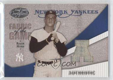 2004 Leaf Certified Materials Fabric of the Game AL/NL #FG-109 - Roger Maris /100