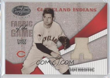 2004 Leaf Certified Materials Fabric of the Game AL/NL #FG-35 - Early Wynn /50