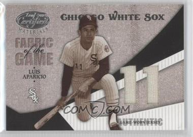 2004 Leaf Certified Materials Fabric of the Game Jersey Number #FG-71 - Luis Aparicio /11