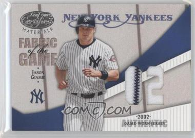 2004 Leaf Certified Materials Fabric of the Game Jersey Year #FG-143 - Jason Giambi /20