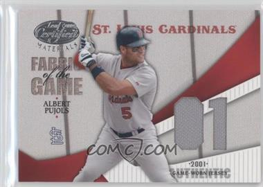 2004 Leaf Certified Materials Fabric of the Game Jersey Year #FG-4 - Albert Pujols /20