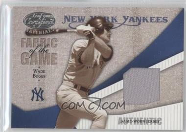2004 Leaf Certified Materials Fabric of the Game #FG-119 - Wade Boggs /100