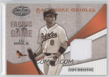 2004 Leaf Certified Materials Fabric of the Game #FG-17 - Cal Ripken Jr. /100