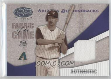 2004 Leaf Certified Materials Fabric of the Game #FG-178 - Mark Grace /100