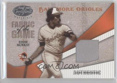 2004 Leaf Certified Materials Fabric of the Game #FG-38 - Eddie Murray /100