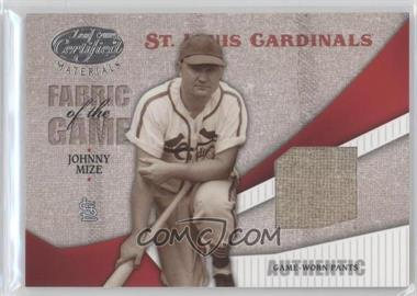 2004 Leaf Certified Materials Fabric of the Game #FG-62 - Johnny Mize /100