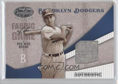 2004 Leaf Certified Materials Fabric of the Game #FG-90 - Pee Wee Reese /100