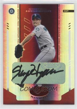 2004 Leaf Certified Materials Red Mirror Autograph [Autographed] #178 - Shigetoshi Hasegawa /250