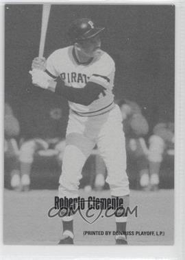 2004 Leaf Exhibits 1947-66 PDPSCR Printed by Donruss Playoff Print Name #41 - Roberto Clemente /66