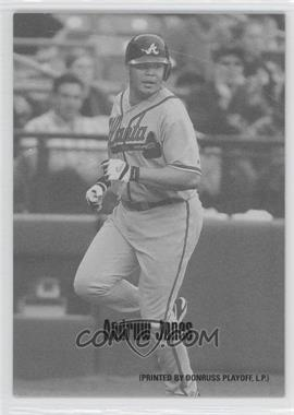 2004 Leaf Exhibits 1947-66 PDPSCR Printed by Donruss Playoff Print Name #5 - Andruw Jones /66