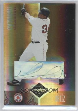 2004 Leaf Limited - [Base] - Monikers Gold Signatures [Autographed] #231 - David Ortiz /10