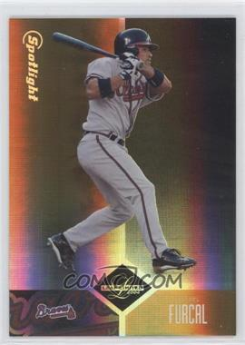 2004 Leaf Limited Spotlight Gold #125 - Rafael Furcal /25