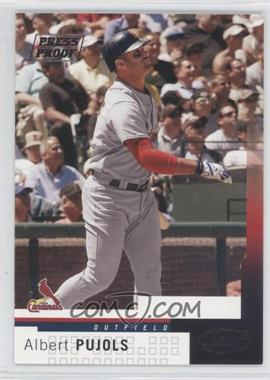 2004 Leaf Press Proof Silver #182 - Albert Pujols /50