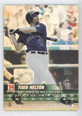 2004 MLB Showdown [???] #N/A - Todd Helton