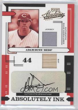 2004 Playoff Absolute Memorabilia - Absolutely Ink - Combo Materials [Memorabilia] #AI-1 - Adam Dunn /50