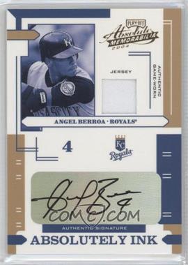 2004 Playoff Absolute Memorabilia - Absolutely Ink - Materials [Memorabilia] #AI-9 - Angel Berroa /100