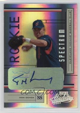 2004 Playoff Absolute Memorabilia - [Base] - Spectrum Gold Signatures [Autographed] #242 - Ivan Ochoa /100