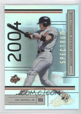 2004 Playoff Absolute Memorabilia - [Base] - Spectrum Gold #27 - Cal Ripken Jr. /50
