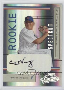 2004 Playoff Absolute Memorabilia - [Base] - Spectrum Silver Signatures [Autographed] #222 - Carlos Vasquez /250