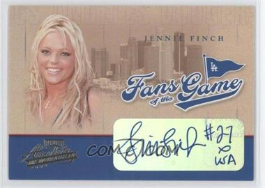 2004 Playoff Absolute Memorabilia - Fans of the Game - Autographs [Autographed] #2F2FG-2 - Jennie Finch