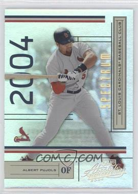 2004 Playoff Absolute Memorabilia [???] #179 - Albert Pujols /50