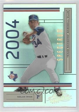 2004 Playoff Absolute Memorabilia [???] #190 - Nolan Ryan /50