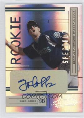 2004 Playoff Absolute Memorabilia [???] #234 - Greg Dobbs /250