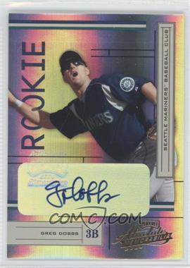 2004 Playoff Absolute Memorabilia [???] #234 - Greg Dobbs /250